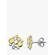 Buy Nina B Silver Gold Plated Dot Stud Earrings, Silver Online at johnlewis.com