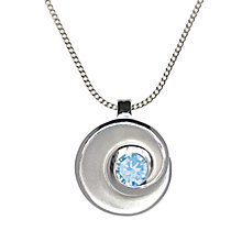 Buy Nina B Sterling Silver Swirl Pendant Online at johnlewis.com
