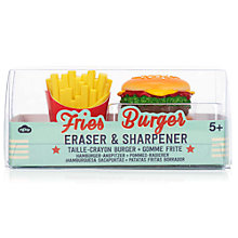Buy Natural Products Burger and Fries Eraser and Sharpener Online at johnlewis.com