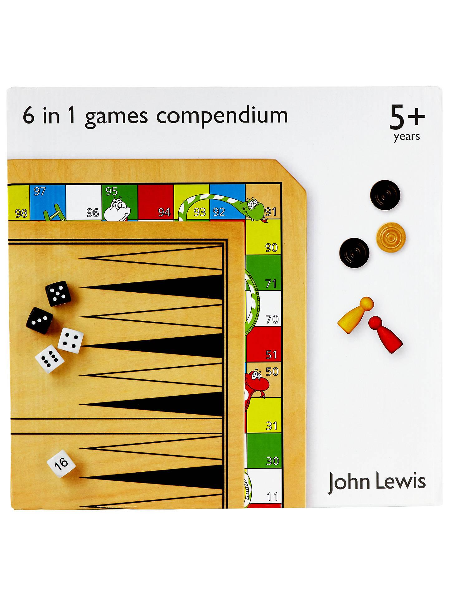 93e87a1c4c1 ... Buy John Lewis   Partners 6 in 1 Games Compendium Online at johnlewis .com