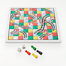 Buy John Lewis Snakes and Ladders & Ludo Game, Reversible Online at johnlewis.com