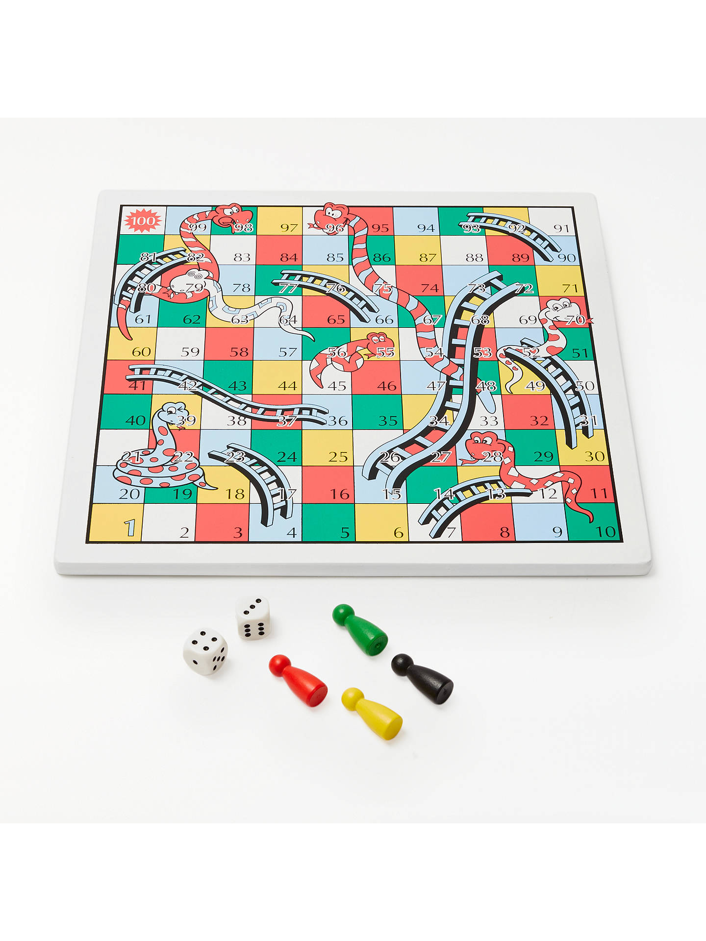 cc78f8d90b4a Buy John Lewis Snakes and Ladders & Ludo Game, Reversible Online at  johnlewis. ...