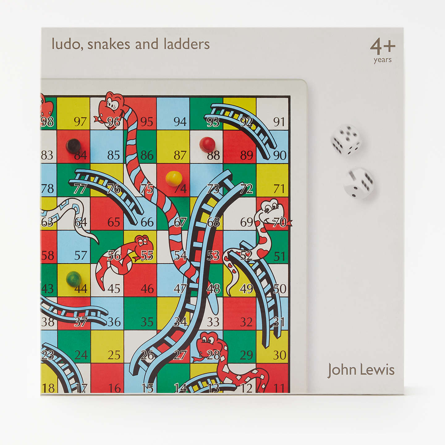 BuyJohn Lewis Snakes and Ladders & Ludo Game, Reversible Online at johnlewis.com