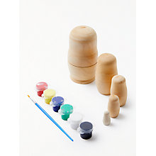 Buy John Lewis Paint A Russian Doll Kit Online at johnlewis.com