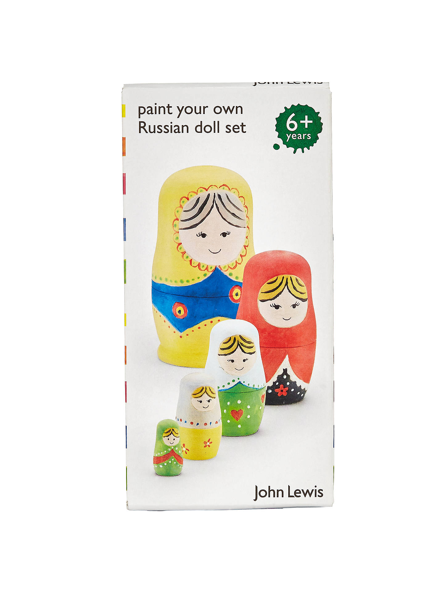 8b9ba28143ad ... Buy John Lewis & Partners Paint A Russian Doll Kit Online at johnlewis.  ...
