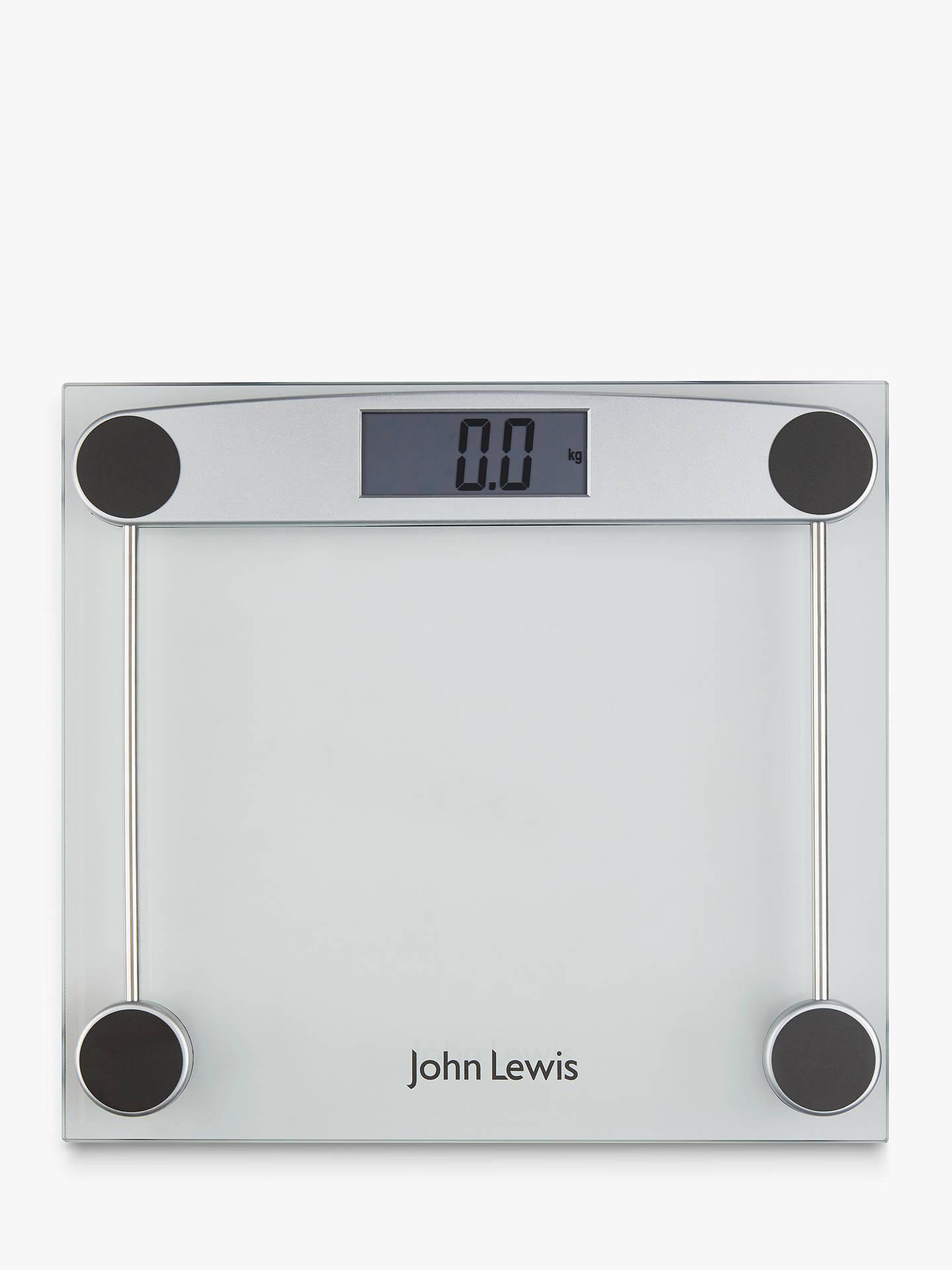 John Lewis Partners Digital Gl Bathroom Scale Online At Johnlewis