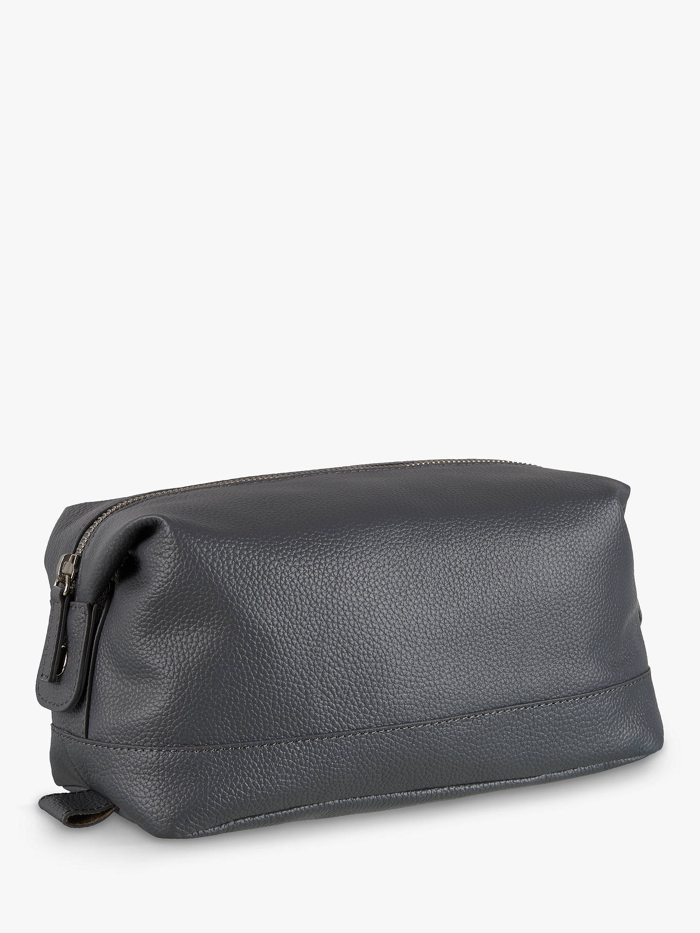 d1083dc45d1d Buy Croft Collection Leather Wash Bag, Storm Online at johnlewis.com