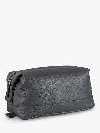 Buy Croft Collection Leather Wash Bag, Storm Online at johnlewis.com