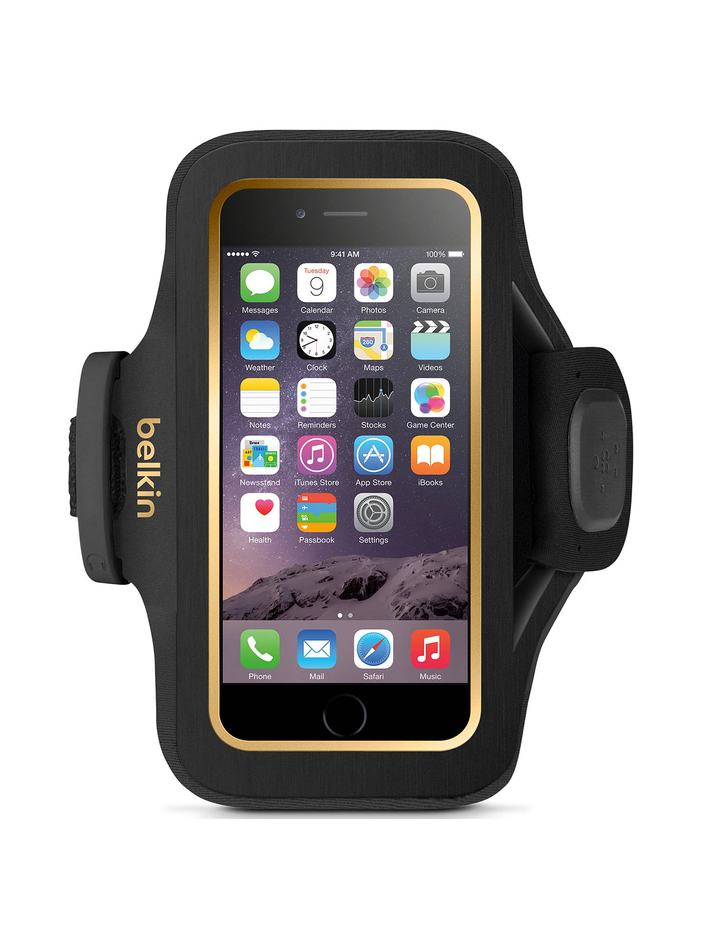 BuyBelkin Slim-Fit Plus Armband for iPhone 6, Black Online at johnlewis.com