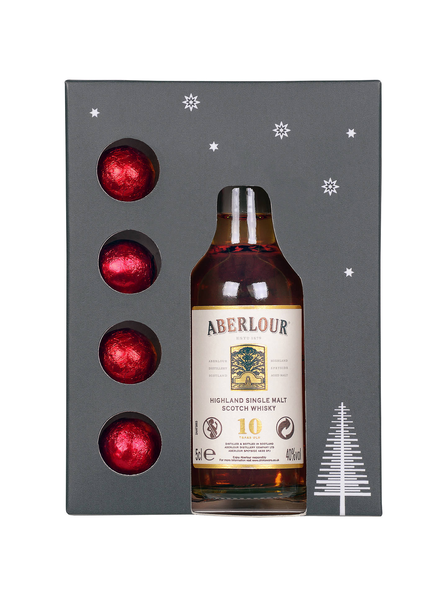 Buy Aberlour Mini Whisky and Chocolates Gift Set Online at johnlewis.com