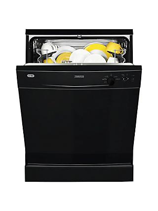 Zanussi ZDF21001NA Freestanding Dishwasher, Black