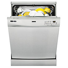 Buy Zanussi ZDF26001XA Freestanding Dishwasher, Stainless Steel Online at johnlewis.com