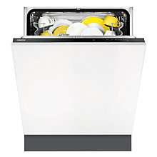 Buy Zanussi ZDT21001FA Integrated Dishwasher, Black Online at johnlewis.com