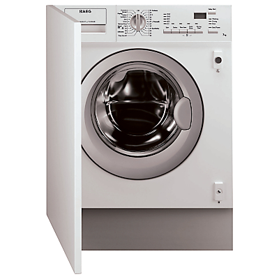 Image of AEG L61271WDBI Integrated Washer Dryer, 7kg Wash/4kg Dry Load, C Energy Rating, 1200rpm Spin