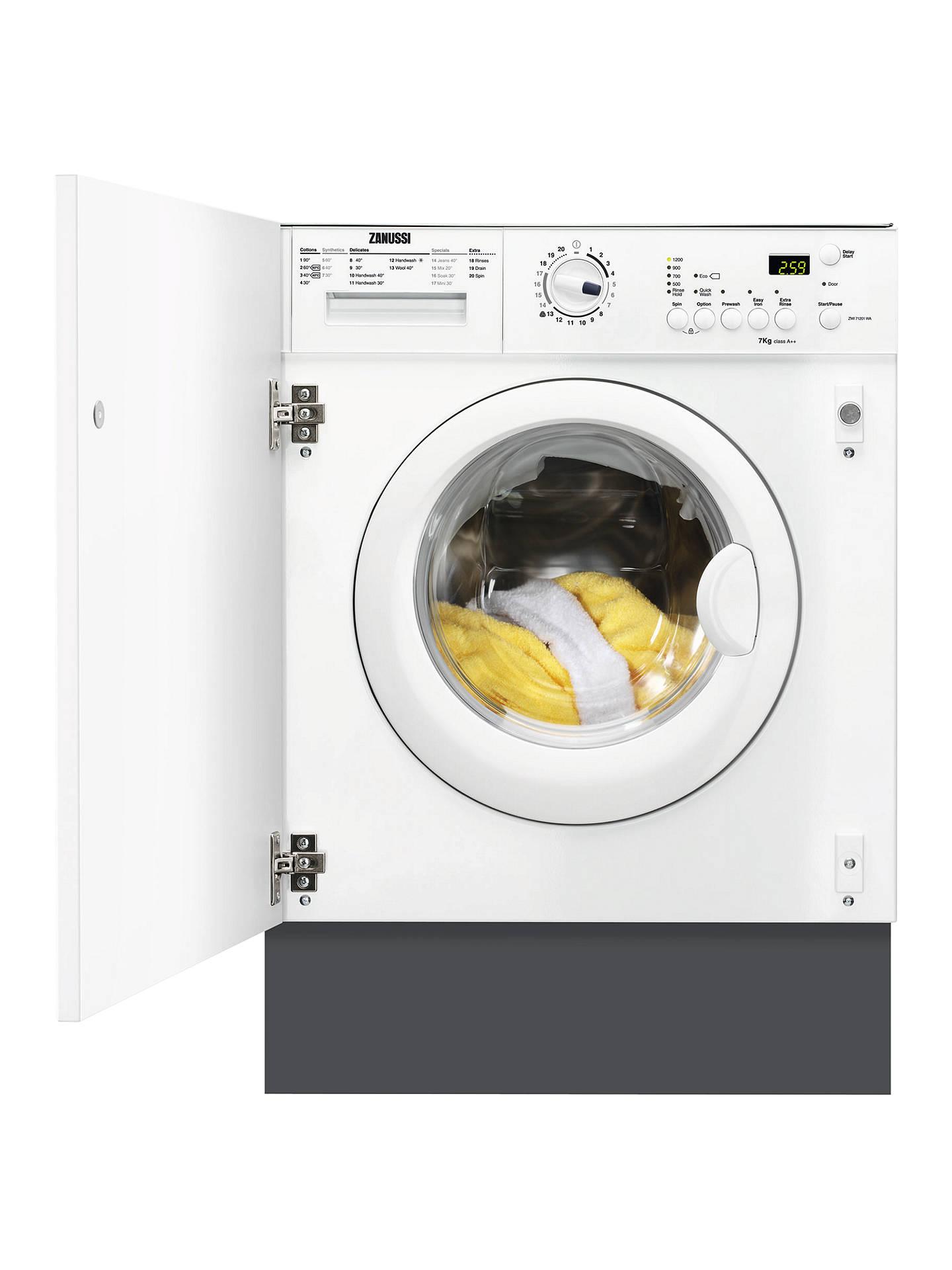 Zanussi Zwi71201wa Integrated Washing Machine 7kg Load