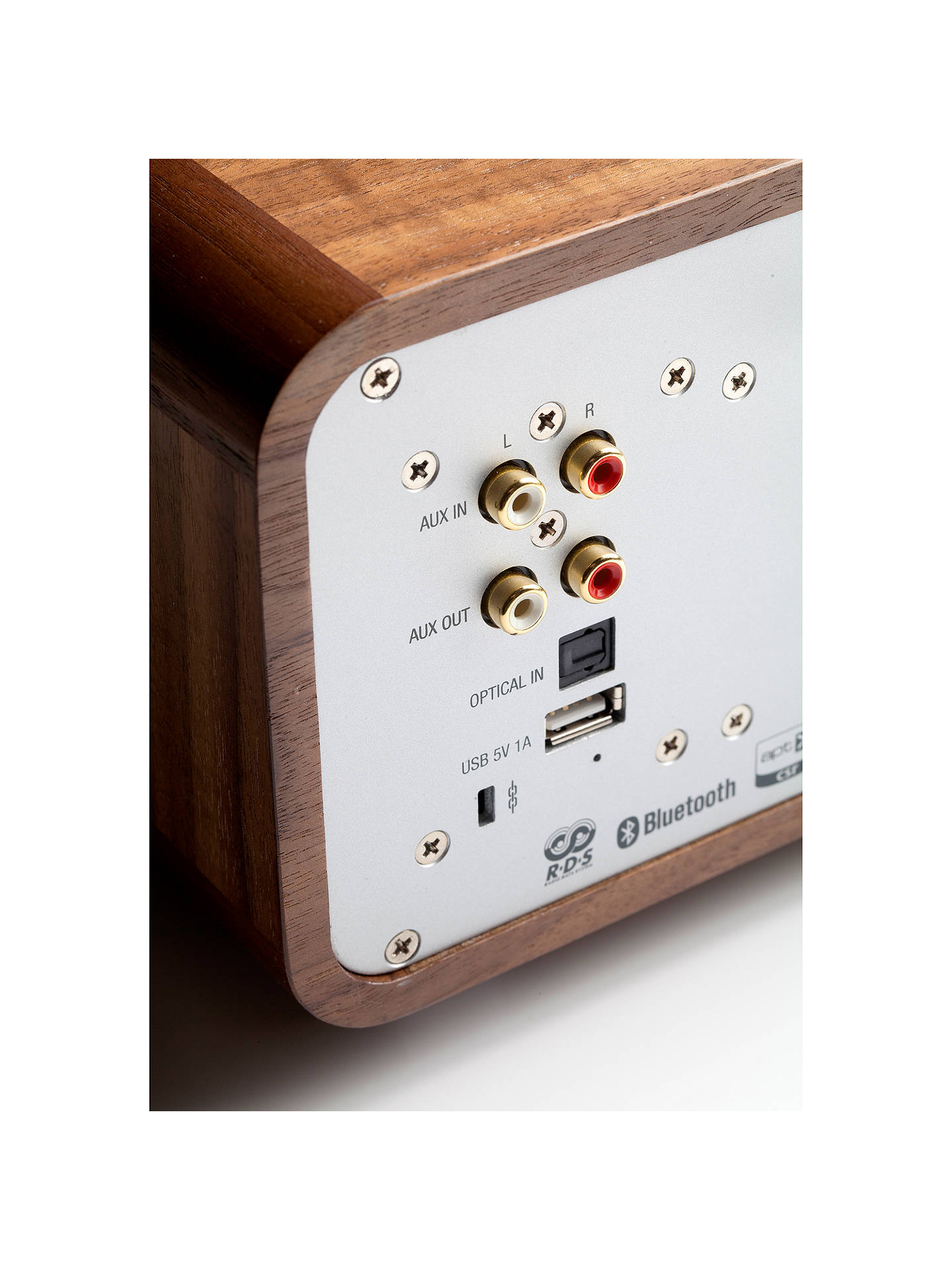 BuyRuark R4 MK3 DAB/DAB+/FM Radio & CD Bluetooth All-In-One Music System with OLED Display, Rich Walnut Online at johnlewis.com