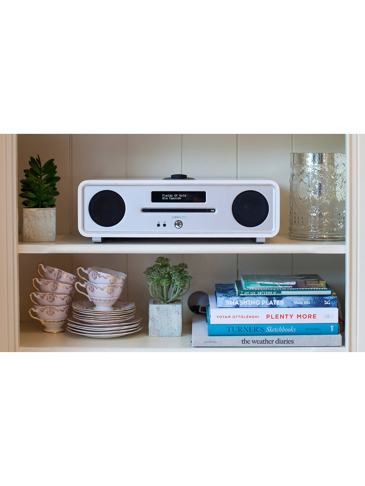 BuyRuark R4 MK3 DAB/DAB+/FM Radio & CD Bluetooth All-In-One Music System with OLED Display, Soft White Online at johnlewis.com