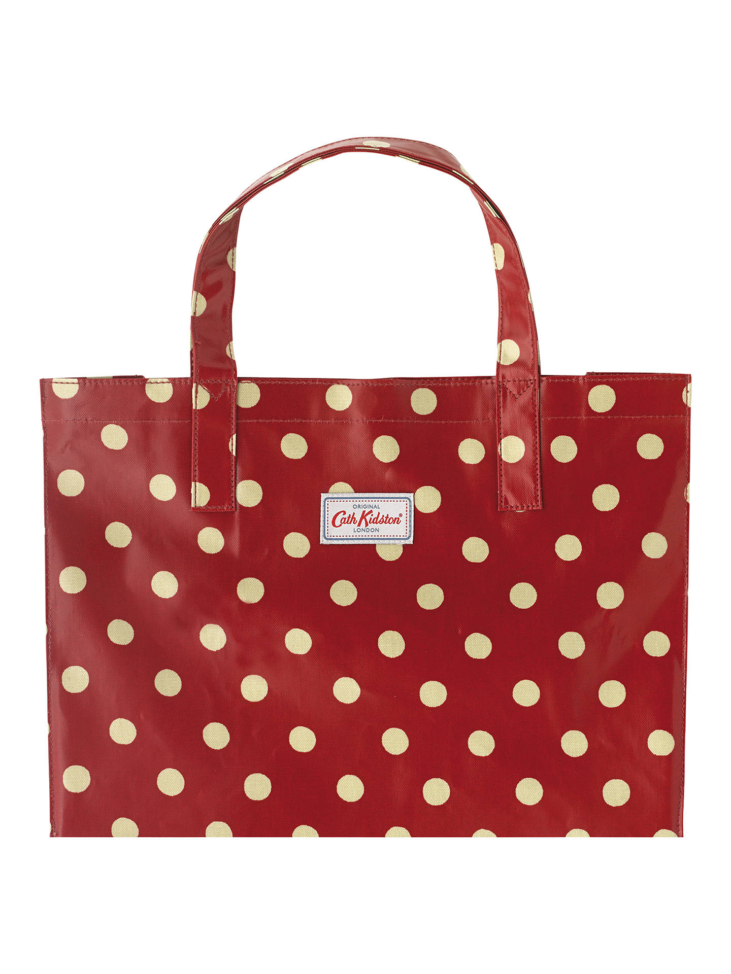 limited style clearance high quality guarantee Cath Kidston Button Spot Shopper, Berry at John Lewis & Partners