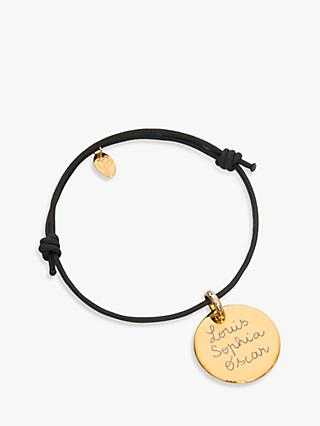 Merci Maman Gold Plated Personalised Disc Bracelet