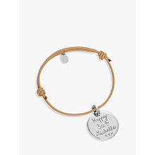 Buy Merci Maman Sterling Silver Personalised Disc Bracelet Online at johnlewis.com