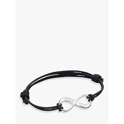 Merci Maman Personalised Sterling Silver Men's Infinity Bracelet