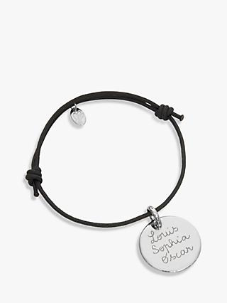 Merci Maman Sterling Silver Personalised Disc Bracelet