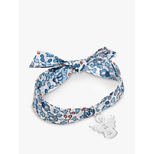 Buy Merci Maman Personalised Sterling Silver Angel Liberty Bracelet Online at johnlewis.com