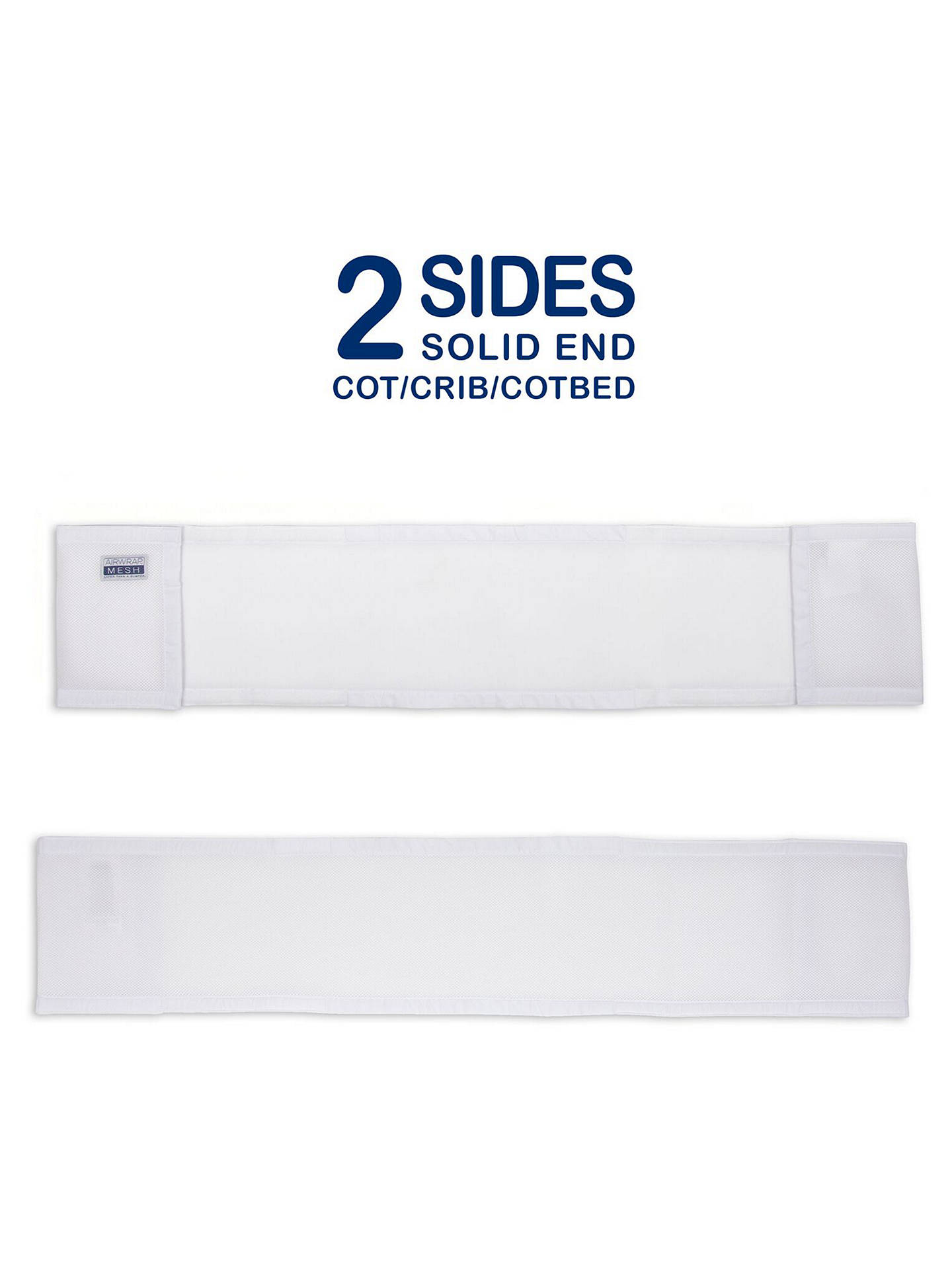 BuyAirwrap Two-Sided Baby Cot Bumper, White Online at johnlewis.com