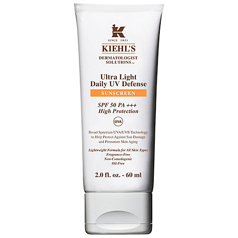 Buy Kiehl's Ultra-Light Daily UV Defense Sunscreen SPF 50 PA+++, 60ml Online at johnlewis.com