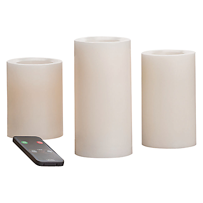 LED Candles with Remote, Pack of 3