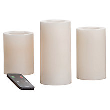 Buy LED Candles with Remote, Pack of 3 Online at johnlewis.com