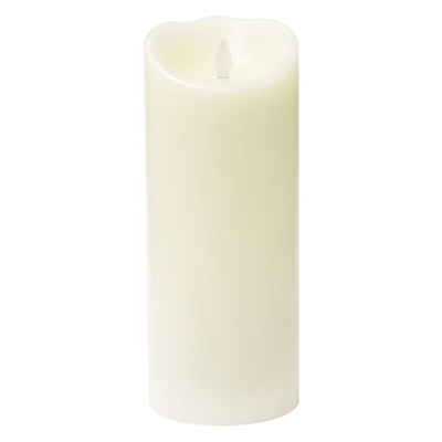 Mirage LED Wax Pillar Candle, H23.5 x Dia.9.5cm