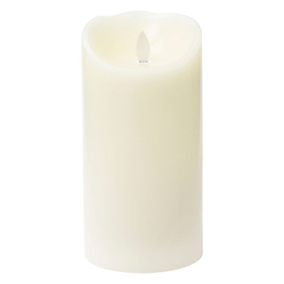 Mirage LED Wax Pillar Candle, H18.5 x Dia.9.5cm