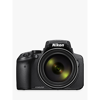 Nikon COOLPIX P900 Bridge Camera, 16MP, HD 1080p, 83x Optical Zoom, Wi-Fi, NFC, 3 Vari-Angle LCD Screen