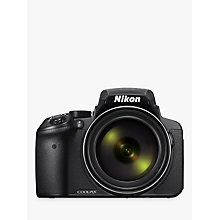 "Buy Nikon COOLPIX P900 Bridge Camera, 16MP, HD 1080p, 83x Optical Zoom, Wi-Fi, NFC, 3"" Vari-Angle LCD Screen Online at johnlewis.com"