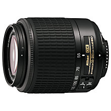 Buy Nikon AF-S 55-200MM f/4-5.6G VR Telephoto Lens Online at johnlewis.com