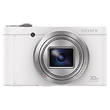"Buy Sony Cyber-Shot WX500 Camera, HD 1080p, 18.2MP, 30x Optical Zoom, Wi-Fi, NFC, 3"" Vari Angle LCD Screen Online at johnlewis.com"