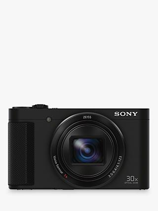 "Sony Cyber-Shot DSC-HX90 Camera, HD 1080p, 18.2 MP, 30x Optical Zoom, Wi-Fi, NFC, OLED EVF, 3"" Tilting Screen"