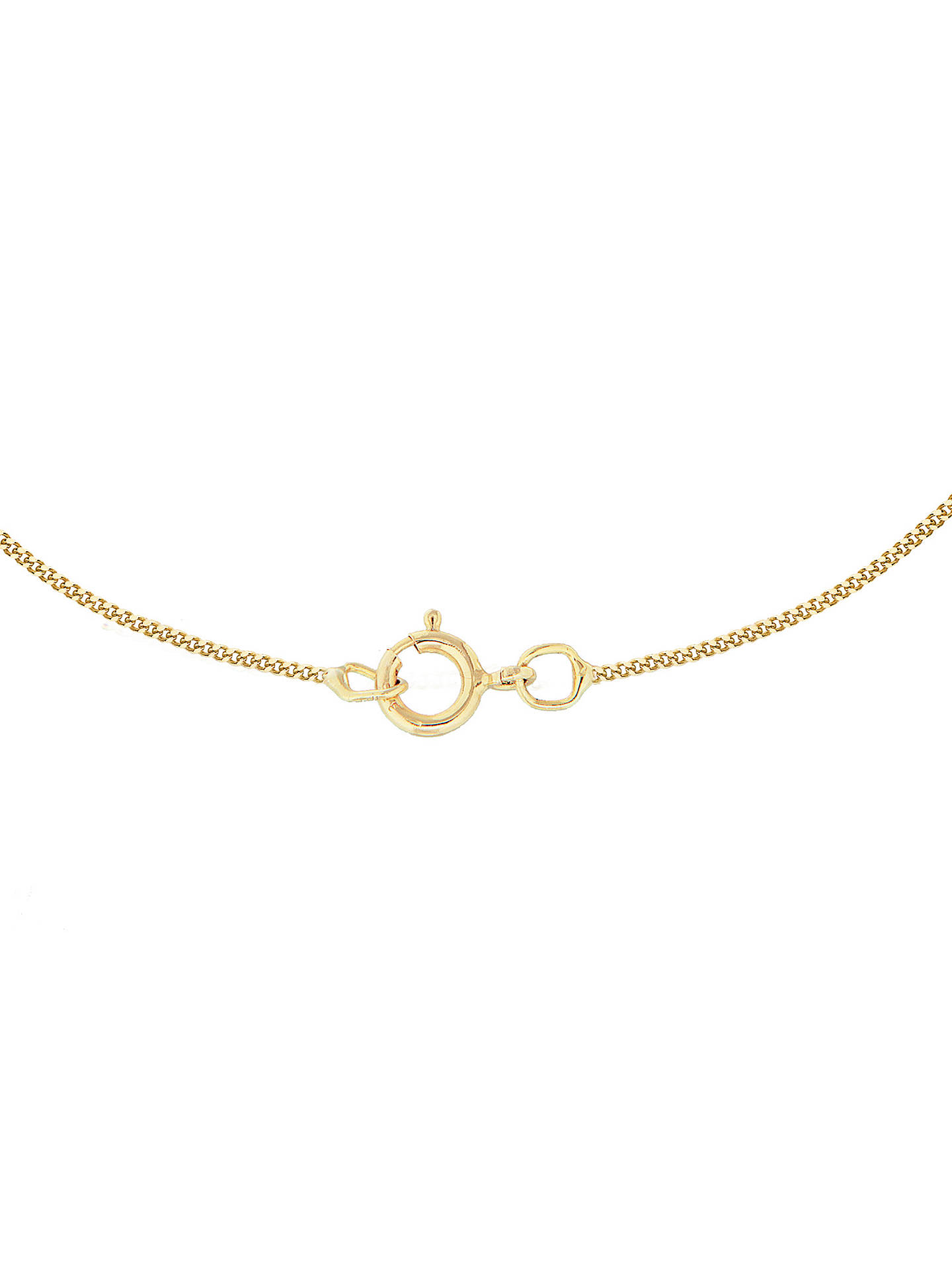 BuyIBB 9ct Gold Cubic Zirconia Initial Pendant Necklace, B Online at johnlewis.com