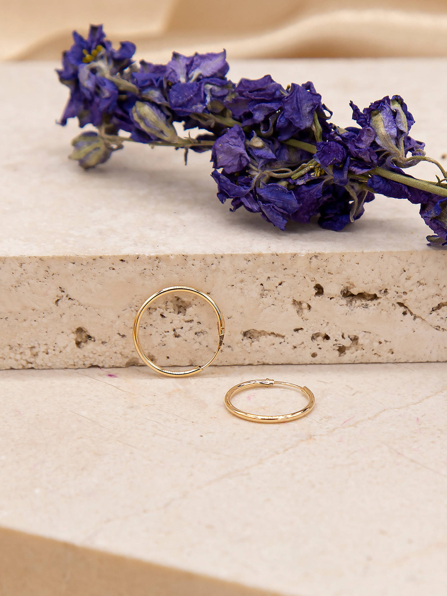 Ibb 9ct Gold Hoop Earrings Online At Johnlewis