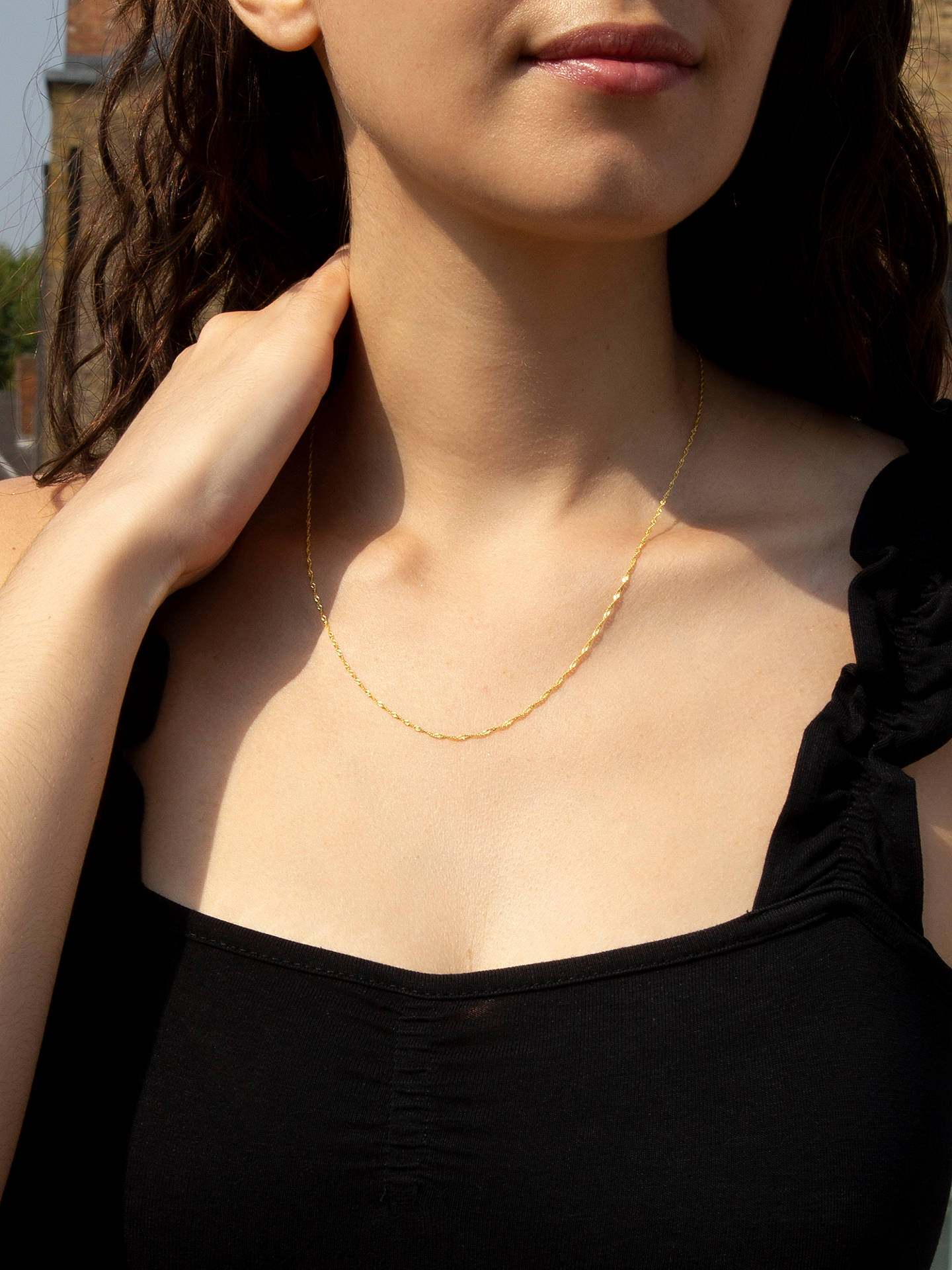 83654d3bf725 Buy IBB 18ct Yellow Gold Twist Curb Chain Necklace