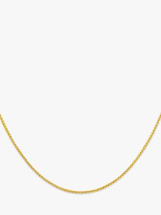 IBB 18ct Yellow Gold Spiga Chain Necklace, Yellow Gold
