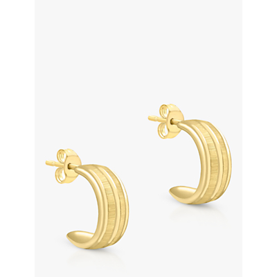 IBB 9ct Gold Half Band Earrings, Gold