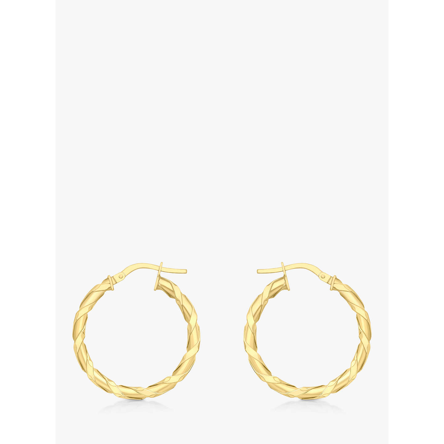 Ibb 9ct Gold Twist Creole Earrings Online At Johnlewis