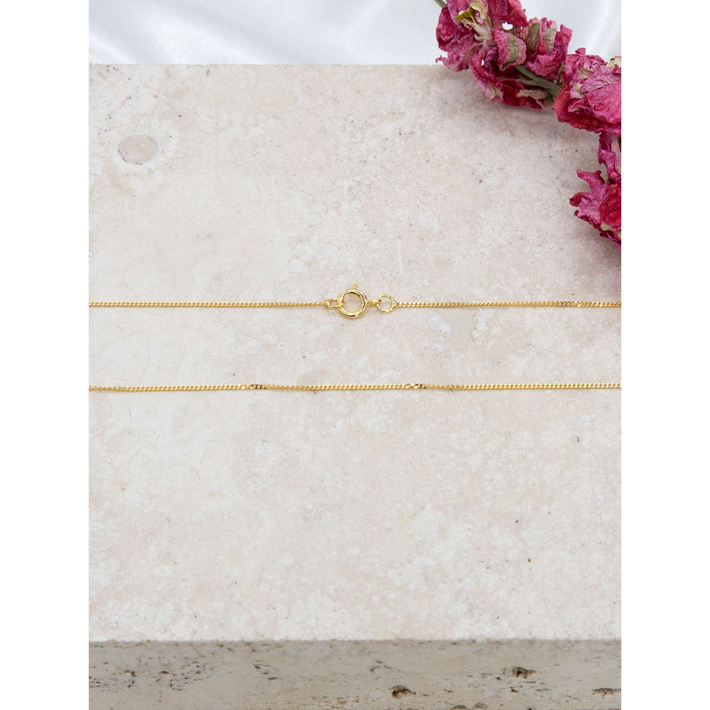 diamond cut gold rose necklace snake evine chain product