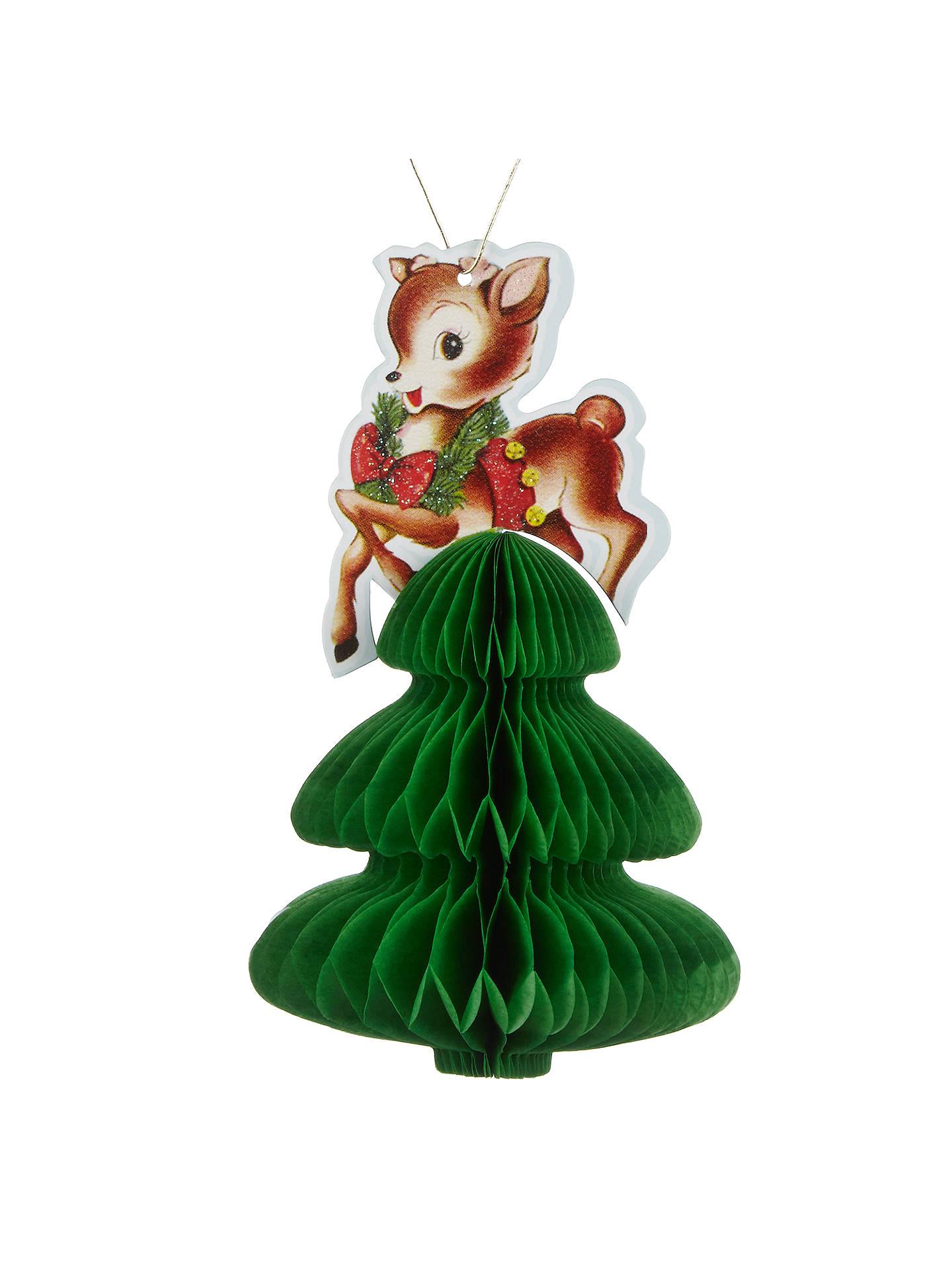 buypaper joy reindeer on tree 3d christmas card online at johnlewiscom