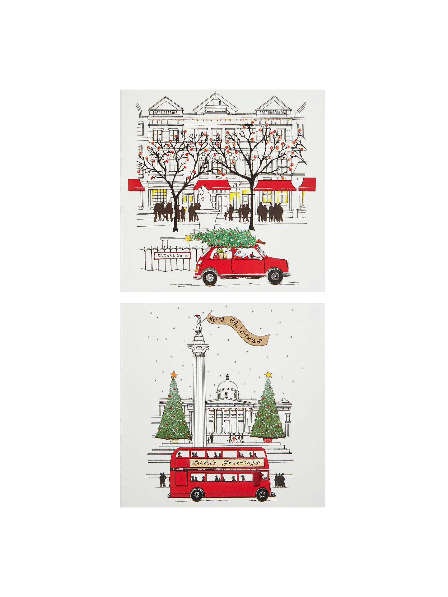John Lewis Fsc Certified Large Charity Christmas Cards London Scenes Pack Of 10 At John Lewis Partners