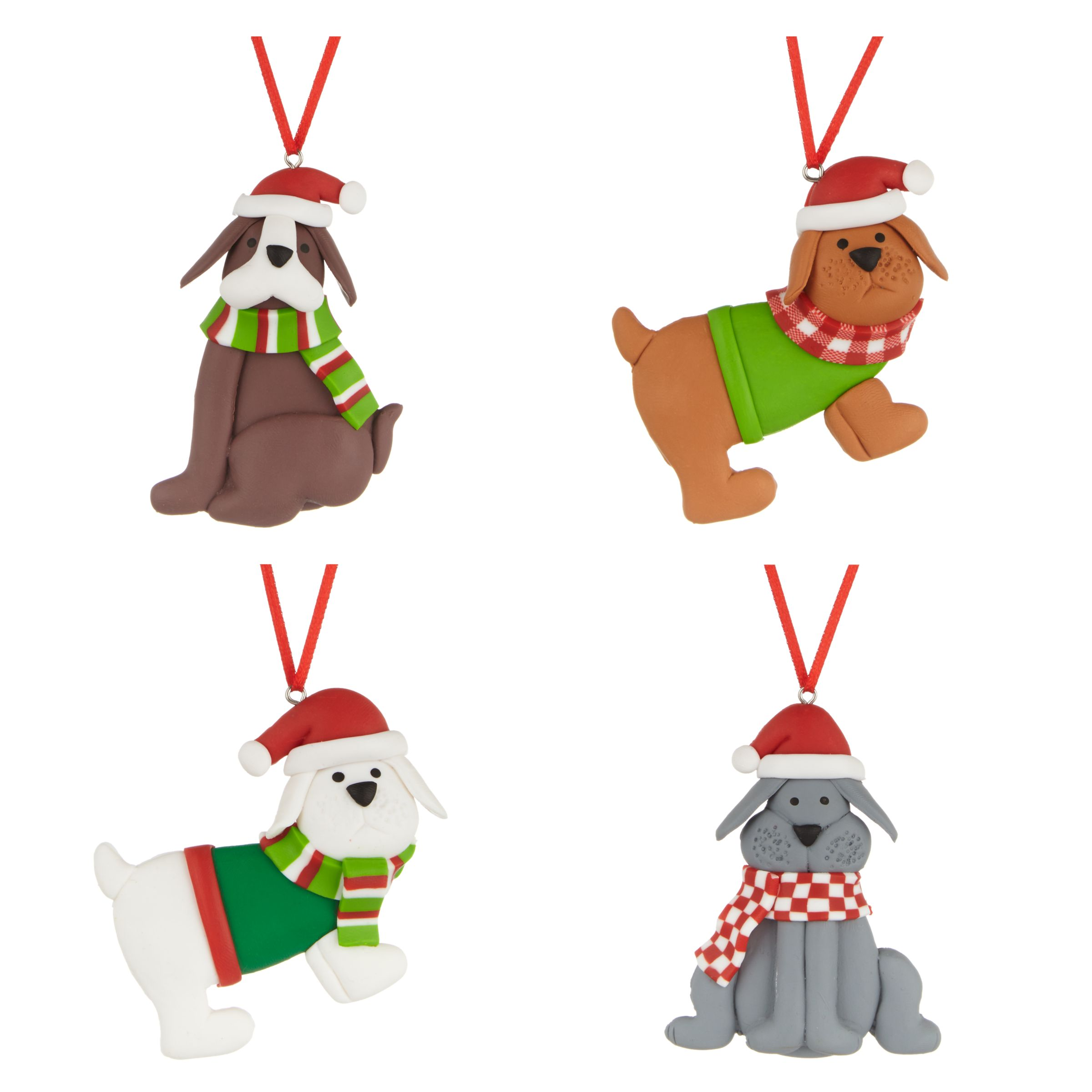 John Lewis Christmas Decorations.John Lewis Claydough Dogs Christmas Decorations Pack Of 4