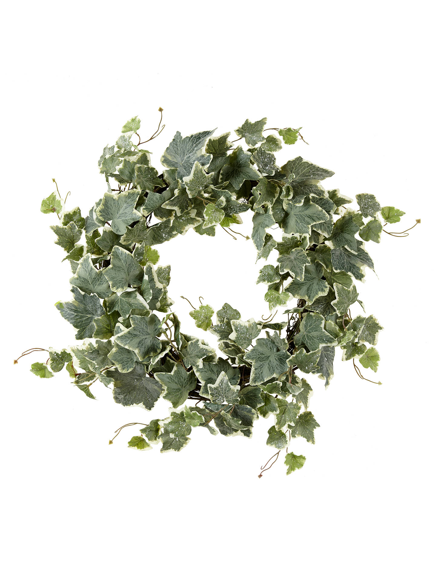 john lewis snowdrift frosted ivy wreath at john lewis partners