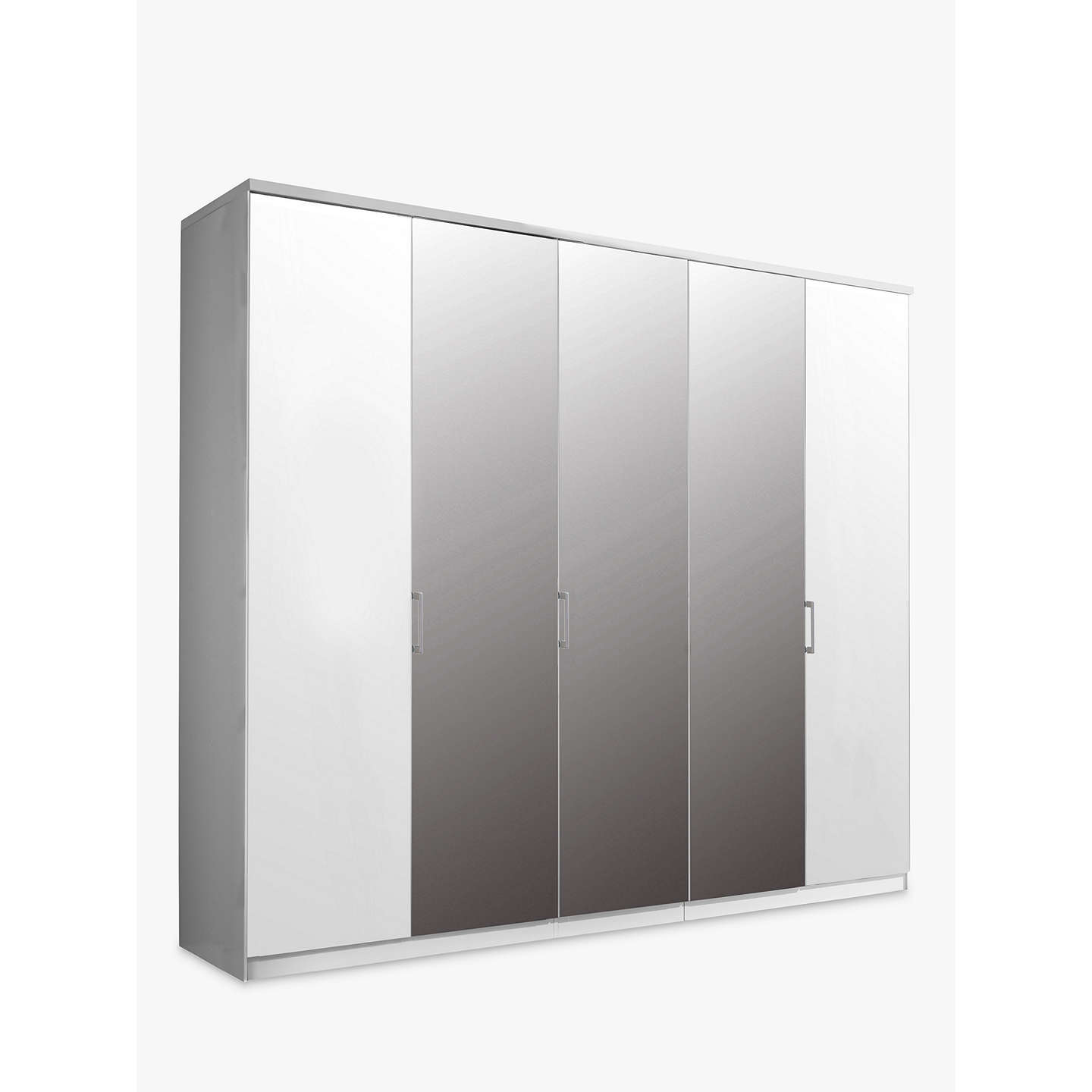 Buyjohn Lewis Special Elstra 250Cm Mirrored Hinged Door Wardrobe, Mirroralpine